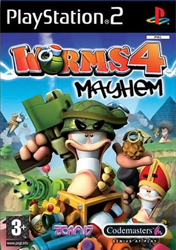 بازی Worm 4 mayhem برای PS2